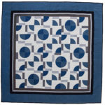 Big Rig Quilting – Deco Blue Pattern- Drunkard's Path Quilt