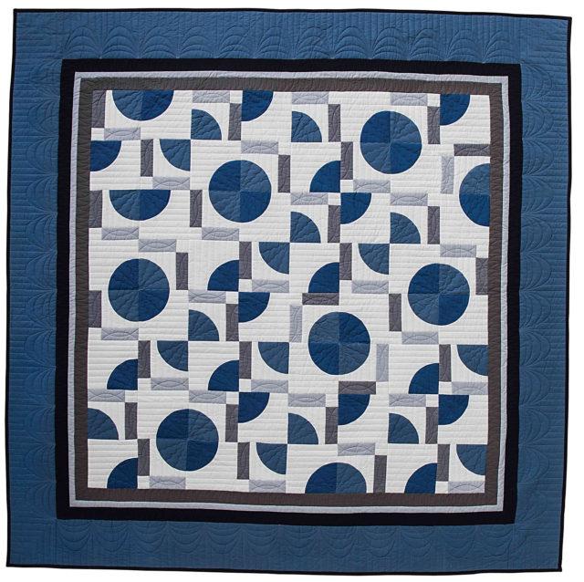 Big Rig Quilting - Deco Blue Pattern- Drunkard's Path Quilt