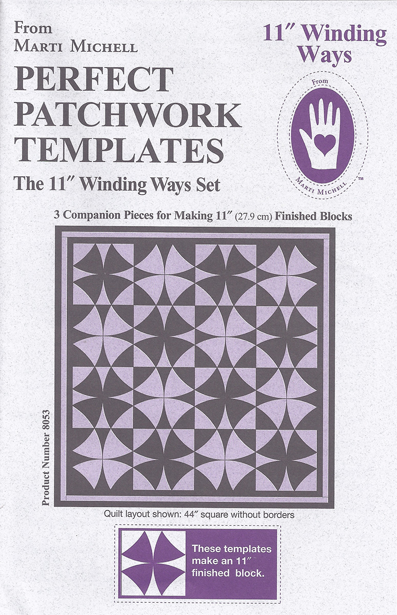 Marti Michell – Winding Ways Templates 11″ – Big Rig Quilting : quilting gadgets 2016 - Adamdwight.com