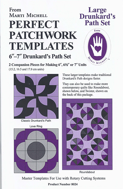 Marti Michell – Large Drunkard's Path Template Set 6″-7″ – Big Rig ... : quilting gadgets 2016 - Adamdwight.com