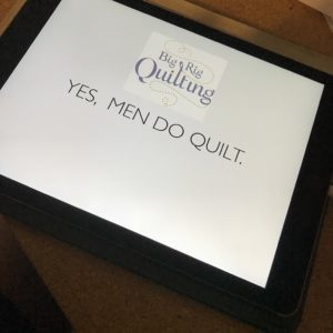 yes men do quilt, john kubinied, big rig quilting